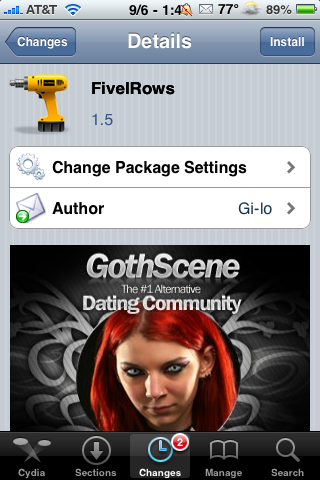 FiveIRows Update – Now Compatible with Five Icon Dock