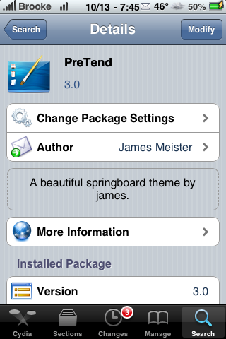 PreTend – WinterBoard Theme