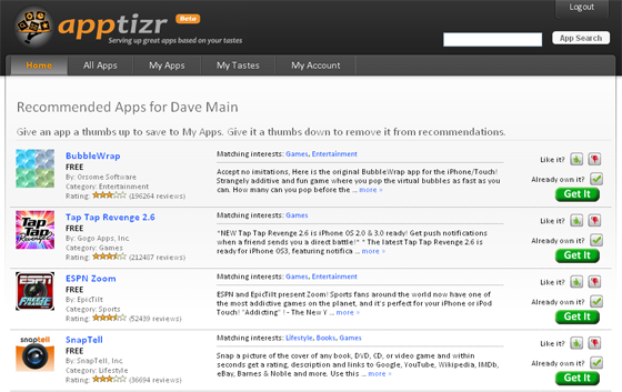 Apptizer.com – App Recommendation Website – No Longer Invite Only