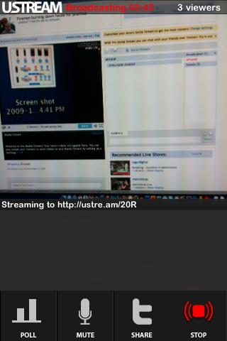 Ustream Live Broadcaster App Approved