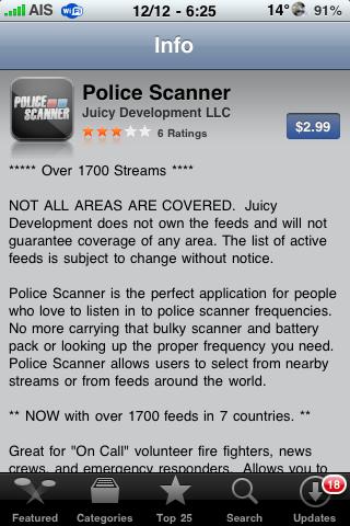 Police Scannner 1.2.2 Update