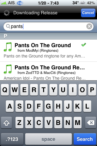 Pants on the Ground Ringtone