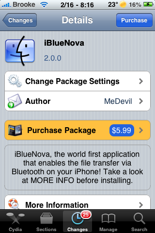 iBlueNova – Transfer Files Via Bluetooth