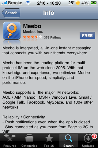Official Meebo App Now Available in the App Store