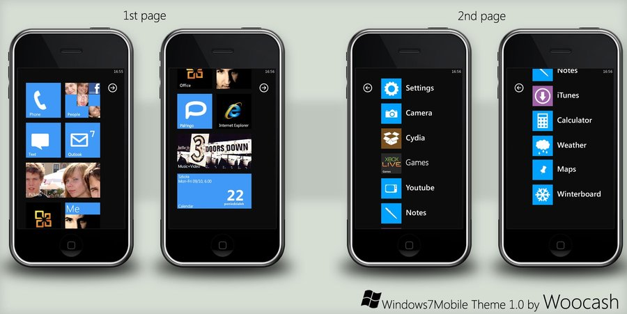 Windows Phone 7 Theme for Your iPhone