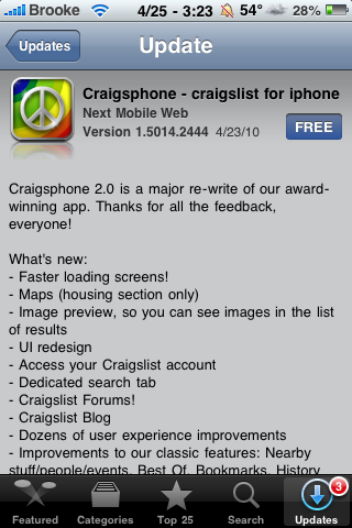 Craigsphone Update – New Features & Improved UI