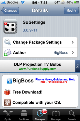 SBSetting 3.0.9 – Rotation, iPad Integration & New Features
