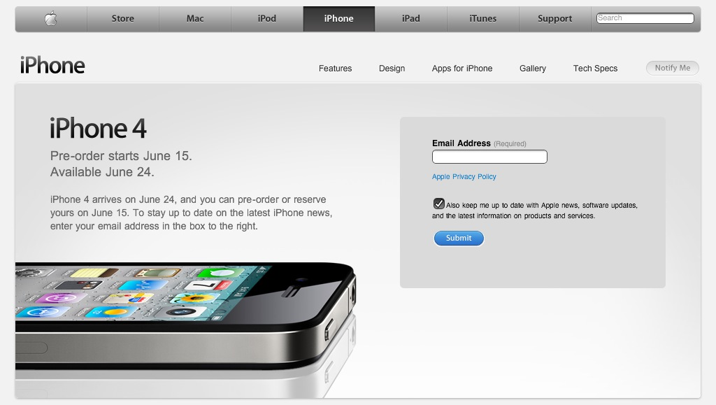 iPhone 4 Pre-orders Start Today!