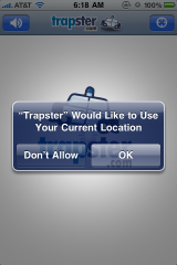 Trapster Current Location