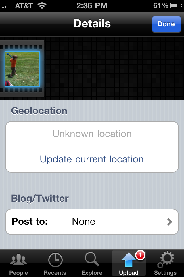 Uploading Photos to Flickr from iPhone & Keeping the Geotag