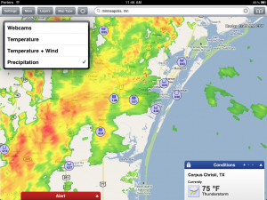 Resista a WunderMap do subterrneo actualizado - o melhor iPad App do radar de tempo