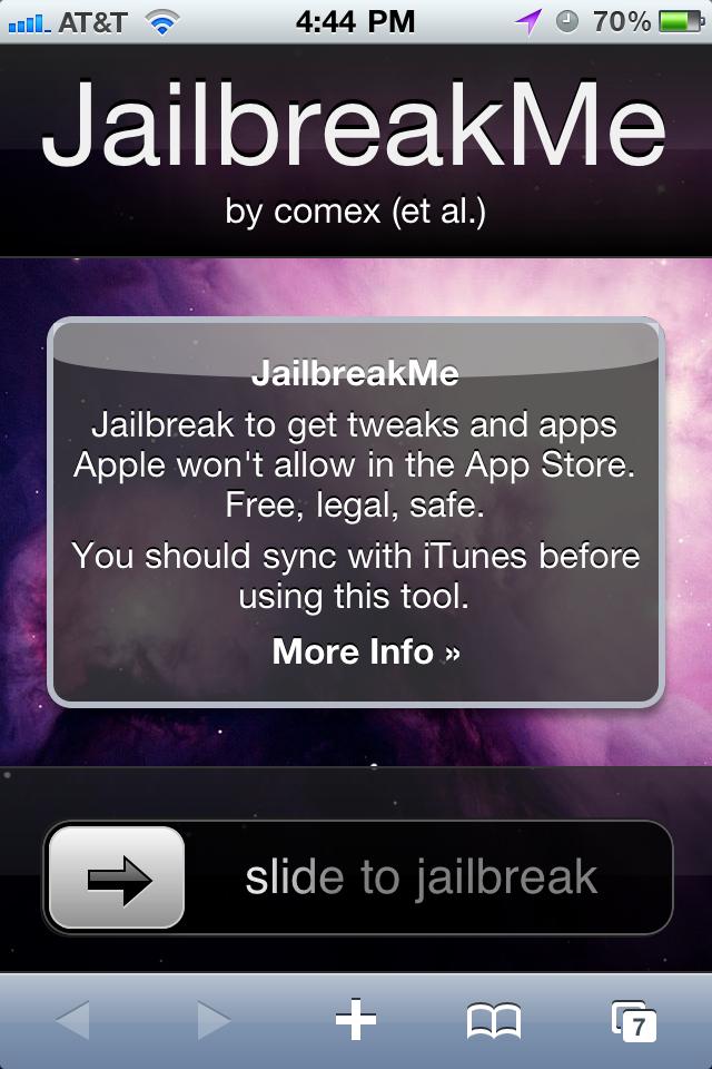 New JailBreak Using Jailbreakme.com, Easy Jailbreak Right From Device [video]