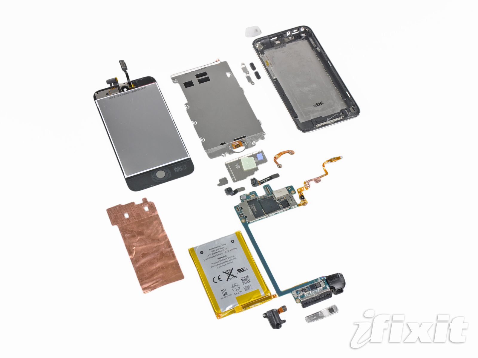 iFixit's iPod Touch 4th Generation Teardown (No Vibrate Motor)