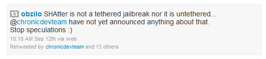 SHAtter Jailbreak – Tethered or untether that is the question.