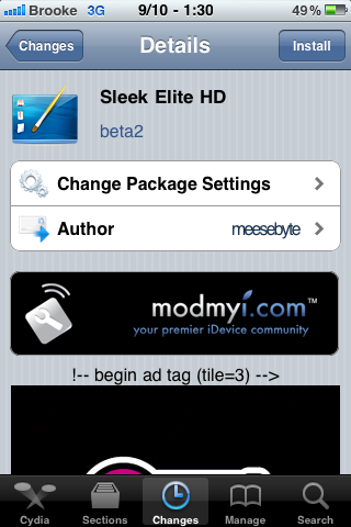 Sleek Elite HD – SBSettings Theme
