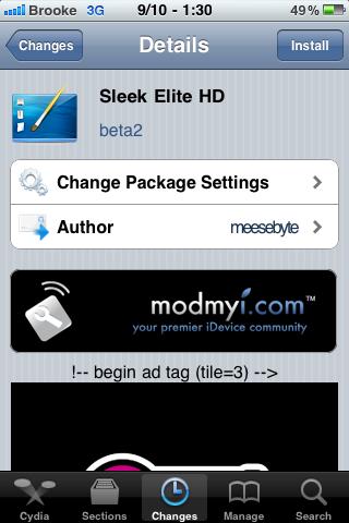 Sleek Elite HD – SBSettings Theme