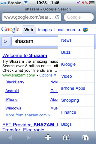 'iPhone Apps' Category Added to Google Mobile Search
