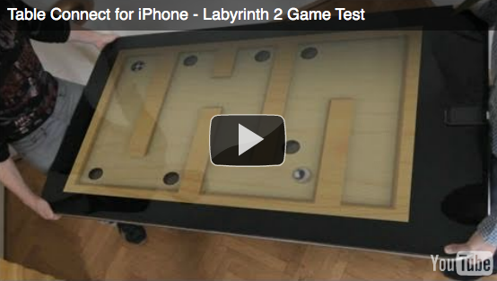 Table Connect – Labryinth 2 on a 58″ Multi-Touch iPhone Table [Demo Video #2]