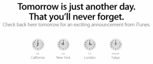 Apple Posts Teaser About Tomorrow's iTunes Announcement
