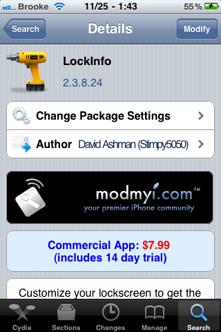 LockInfo Update – iOS 4.2.1 Compatibility, Improvements and Bug Fixes