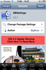 SBSettings a mis � jour � la version 4.2.1 - difficult� pour 4.2.1 progiciels