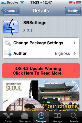 SBSettings Updated to Version 4.2.1 – Fix for 4.2.1 Firmware