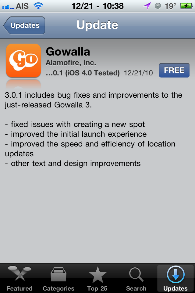 Gowalla Update Fixes Crashing with WinterBoard/Jailbreak