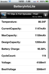 BatteryInfo Lite – List of Battery Statistics