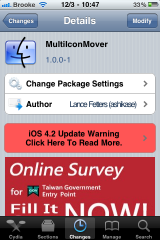MultiIconMover Updated &#8211; Now Compatible with iOS 4.2.1