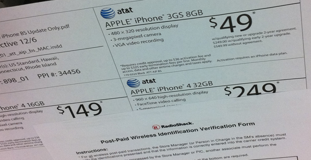 RadioShack Selling iPhones for $50 Off