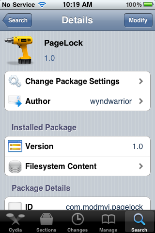 PageLock – Remove SpringBoard Page Scrolling Ability