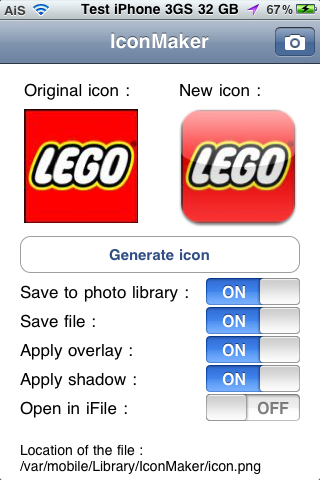 IconMaker – Create Custom Icons From Your iPhone