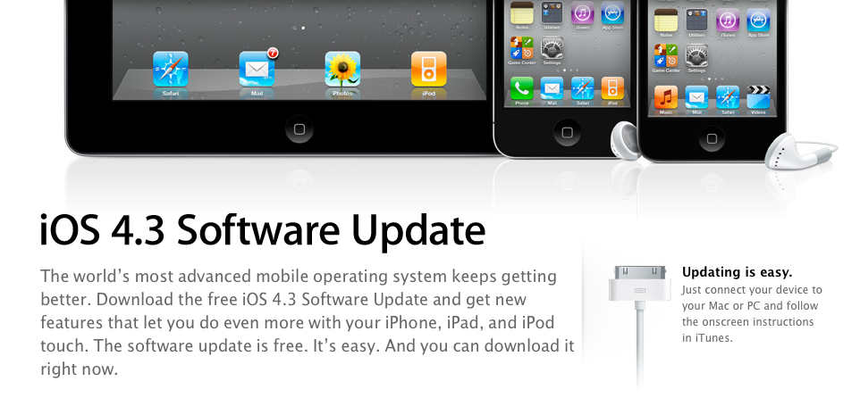 iOS 4.3 Now Available