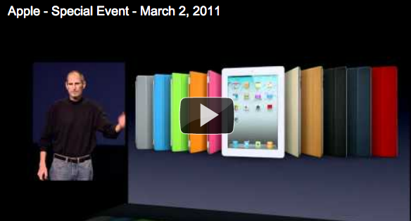 Watch the iPad 2 Event Keynote [Video]