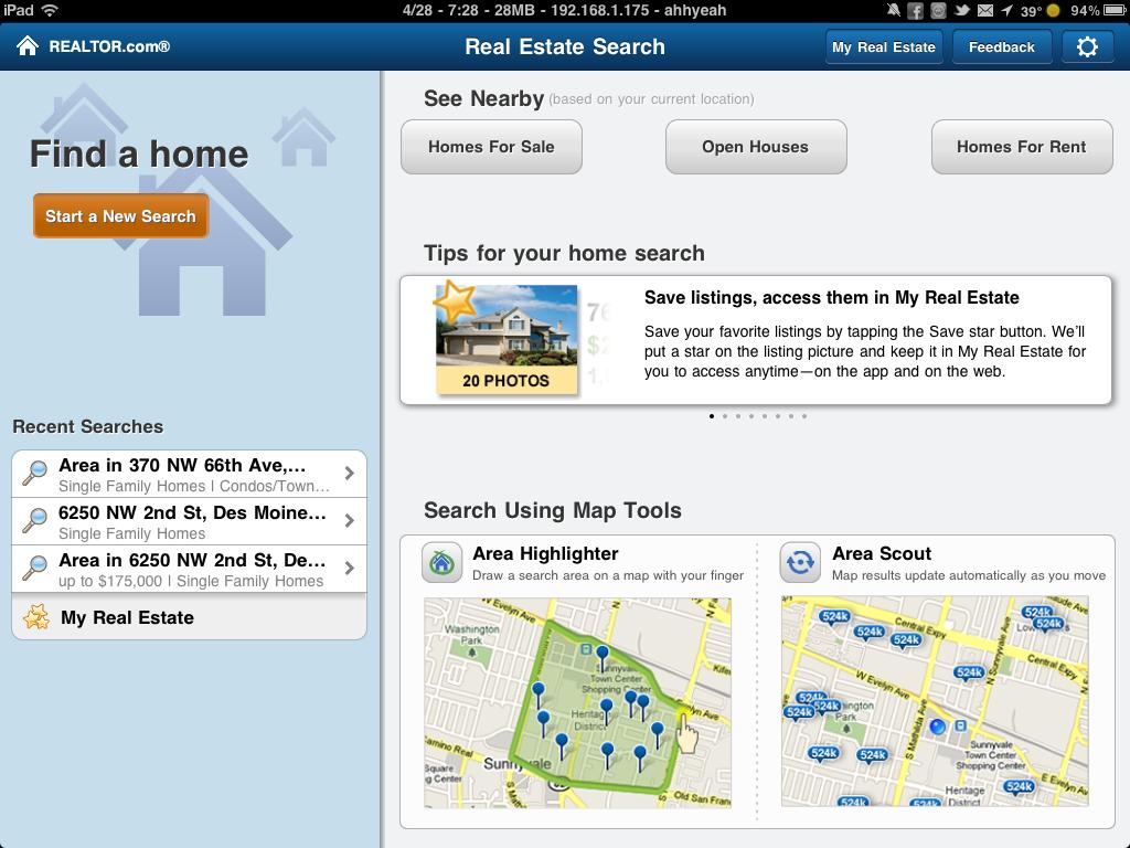 Realtor.com Releases iPad App