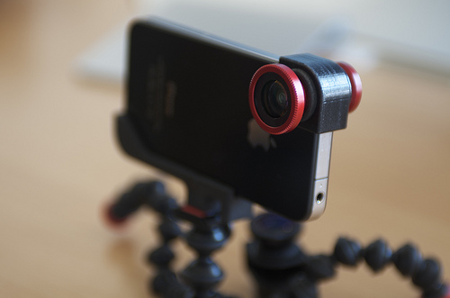olloclip &#8211; Klemme p&aring; Fisheye, Vid-Vinkel &amp&nbsp;; Makrolinse