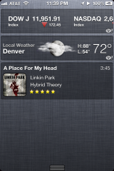 MusicCenter - Widget do iOS 5
