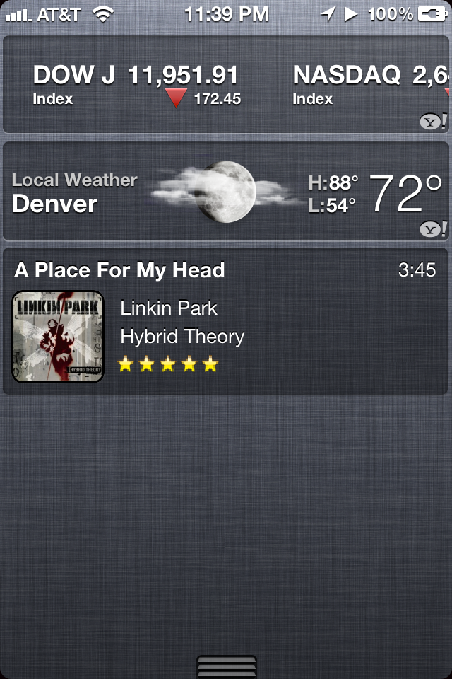 MusicCenter – iOS 5 Widget
