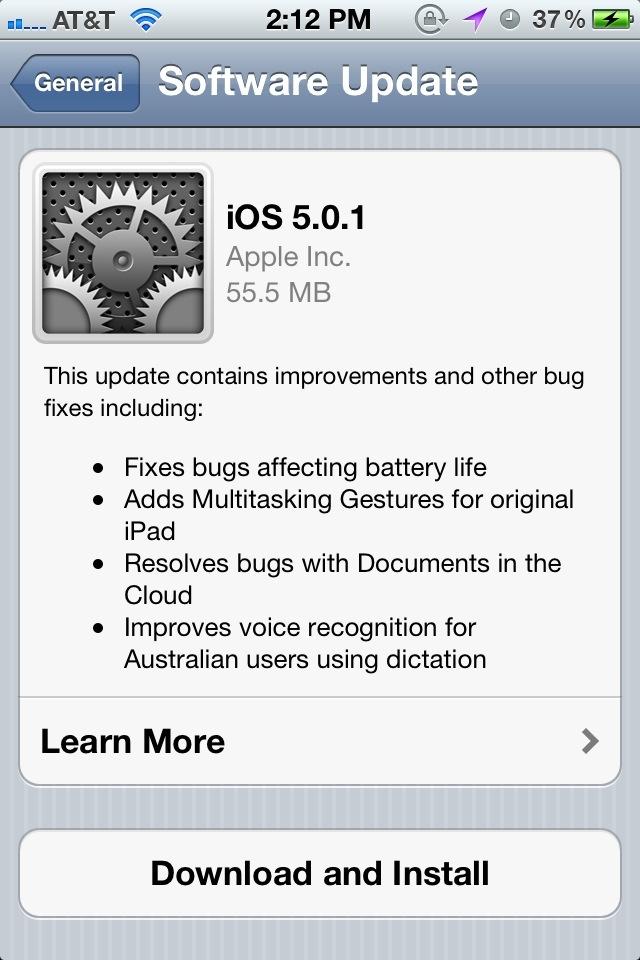 Firmware Update 5.0.1