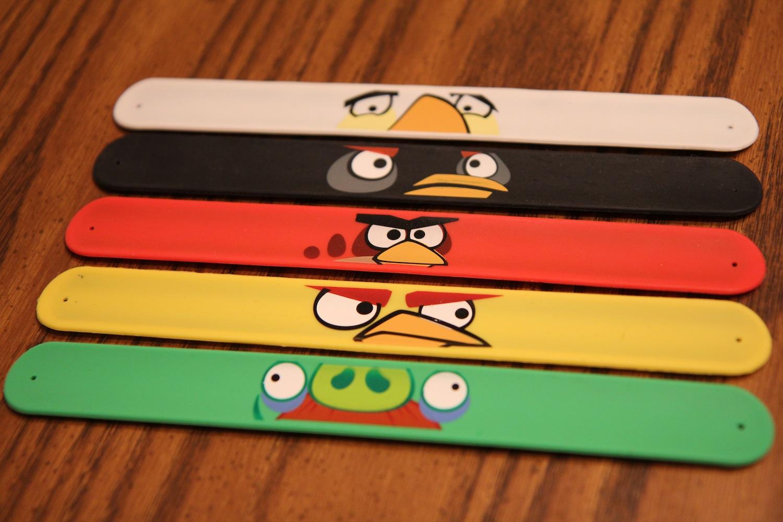 Angry Birds Slap Bracelets