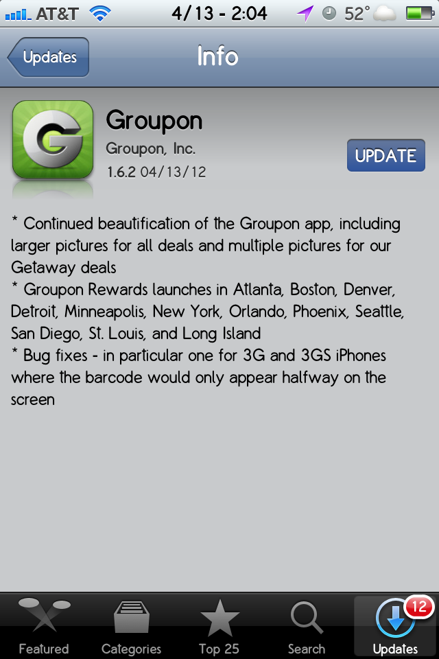 Groupon – Update 1.6.2