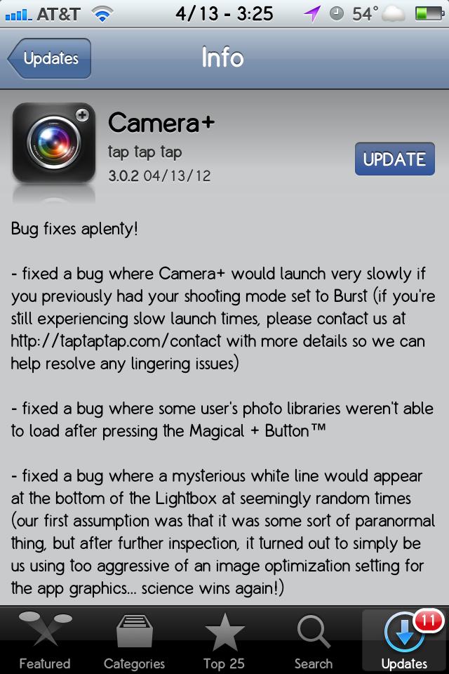 Camera+ – Update 3.0.2