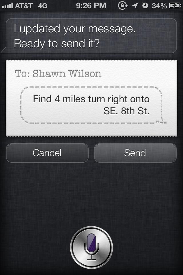 Siri Talks to Herself