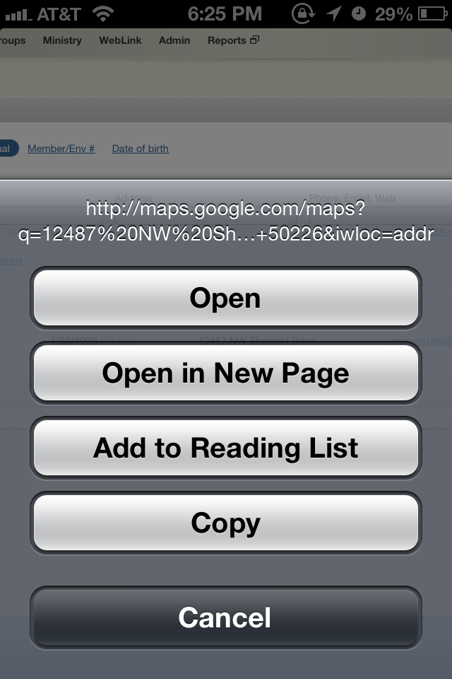 Opening Google Map Links in iOS 6