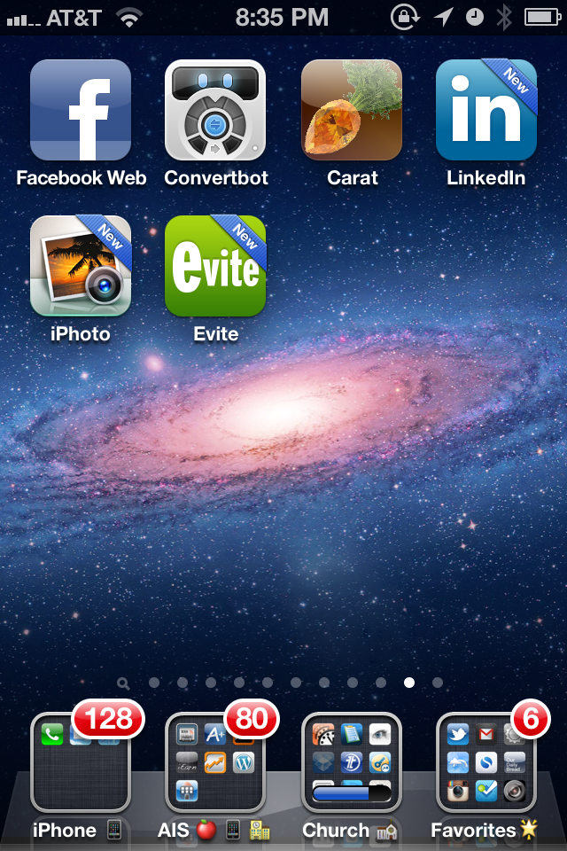 iOS 6 – New Apps Have Indicating Banner