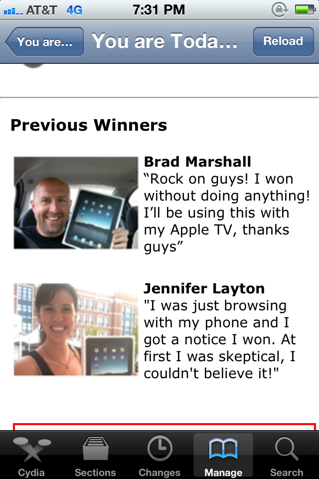 I'm Brad Marshall and I Won a Free iPad!