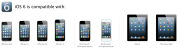Apple devices compatible with iOS 6