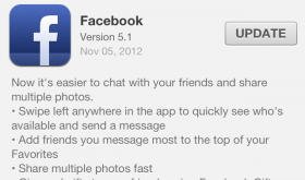 Facebook 5.1 Update