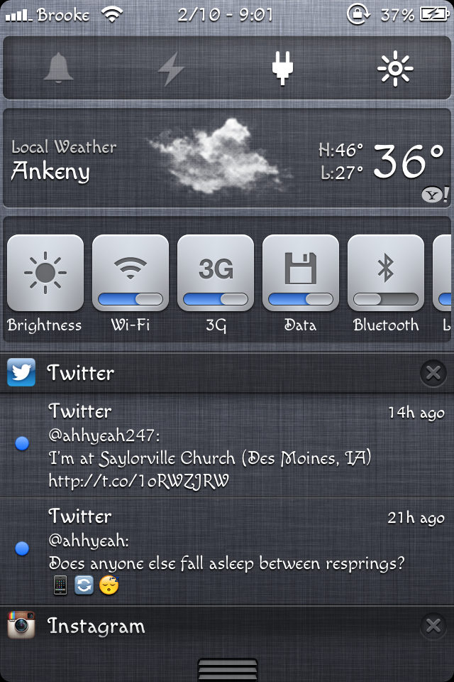 NCSettings – System Toggles for Notification Center