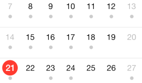 iOS 7: Calendar